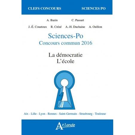 Sciences-Po Concours commun 2016