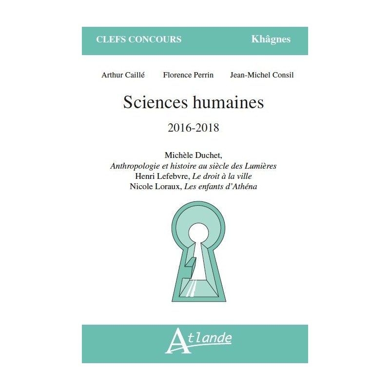 Sciences humaines 2016-2018