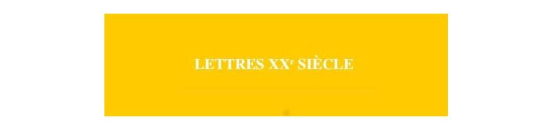 Lettres XXe siècle