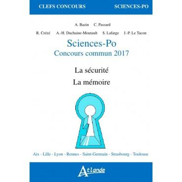 Sciences-Po Concours commun 2017
