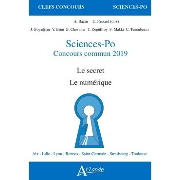 Sciences-Po concours commun 2019