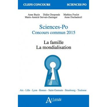 Sciences-Po Concours commun 2015