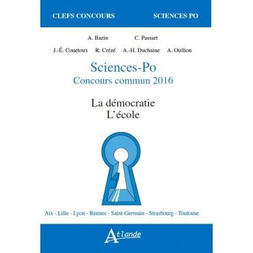 SciencesPo Concours commun 2016